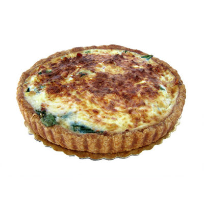 Spinach Bacon Smoked Gouda Quiche